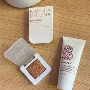 Natasha Denona Eyeshadow  Briogeo Hair protection